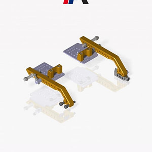 ADJUSTABLE FOOTREST SYSTEM with brake tie rod 250mm (PROVIDED WITHOUT PEDALS)