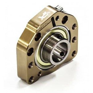 BEARING BUSH SUPPORT Ø62MM for Ø30 and Ø25mm axle TITAN GOLD