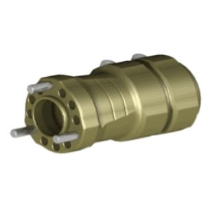 REAR HUB Ø50XL125MM TITAN GOLD ANODIZED