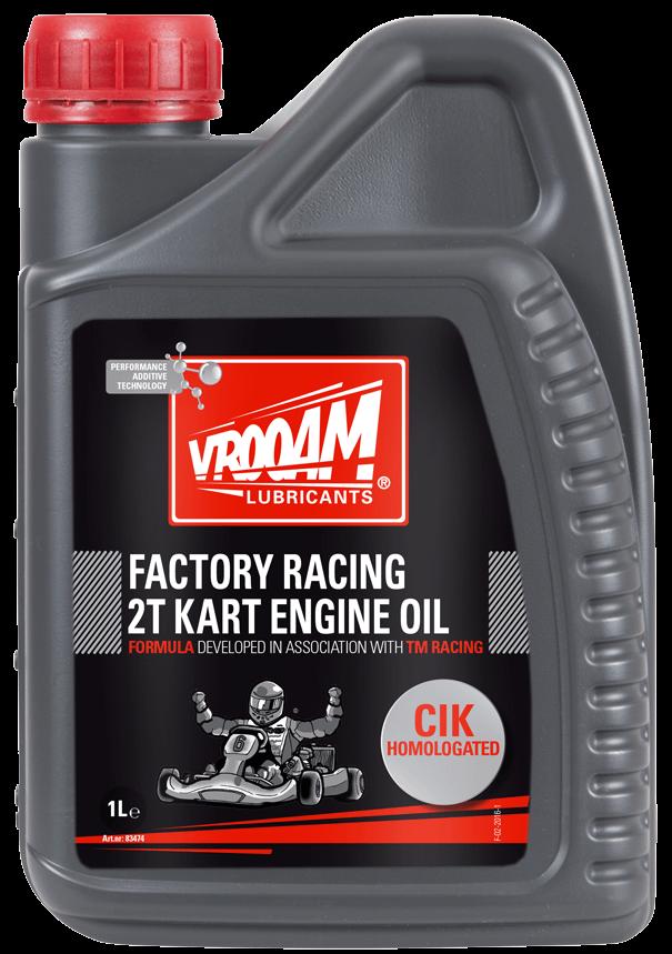 VROOAM Factory Racing 2T Kart Castor Engine Oil CIK FIA - 1L
